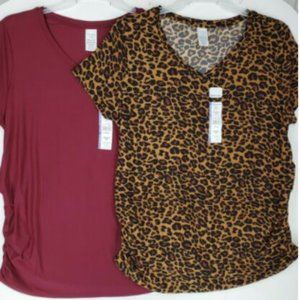 Time and Tru Womens Maternity Top sz XXL Lot of 2